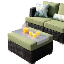 Resin Wicker Outdoor Set with Sunbrella Cushions