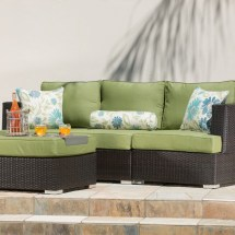 Sirio Sorrento 4-piece Brown And Green Resin Wicker