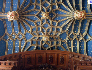 Ceiling of the Chapel Royal, Hampton Court Palace