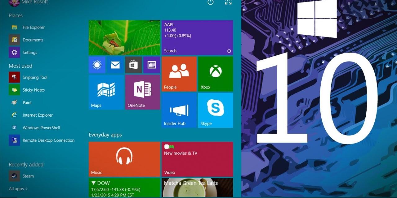 Say Hello to Windows 10