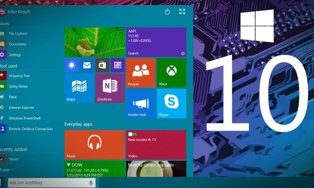 Say Hello to Windows 10