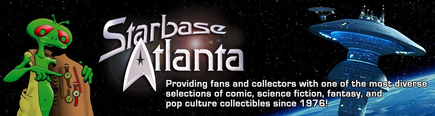 Starbase Atlanta - Providing fans and collectors with one of the most diverse selections of comics, science fiction, fantasy and pop culture collectibles since 1976.