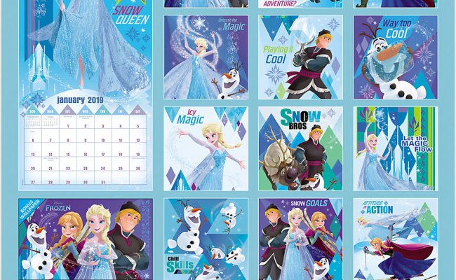 Walt Disney Frozen Movie Animation Art 16 Month 2019 Wall