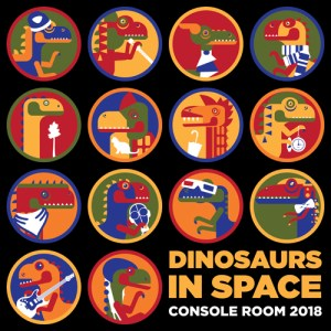 "Console Room 2018 ""Dinosaurs in Space"" logo"