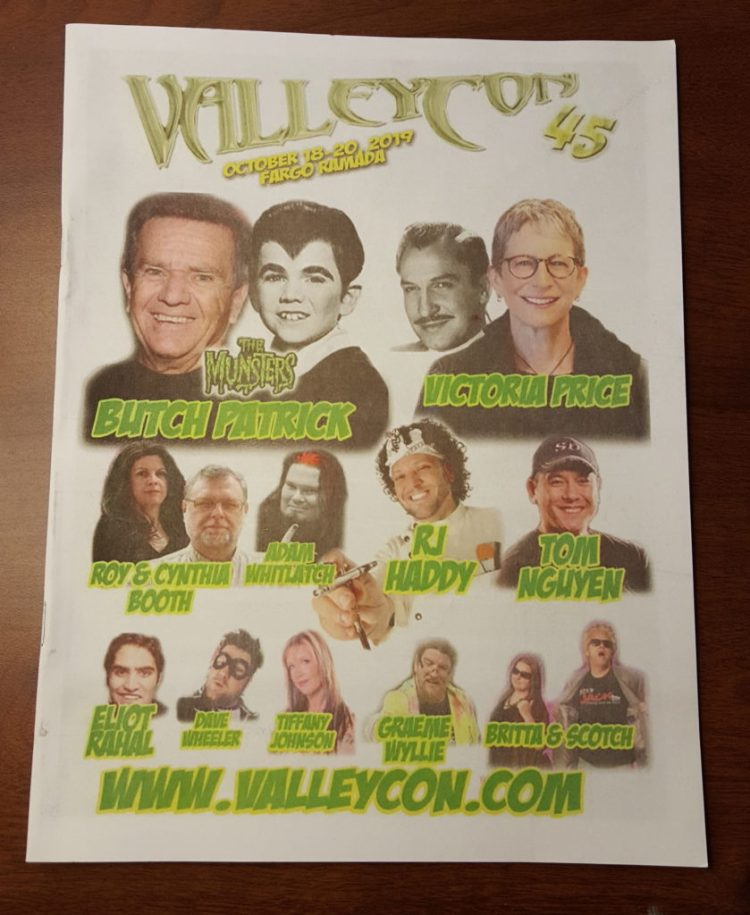 Valleycon 2019 Programbook cover