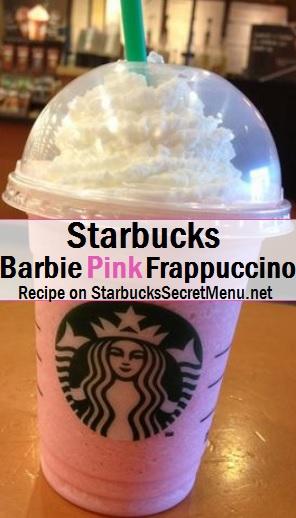 Starbucks Barbie Pink Frappuccino  Starbucks Secret Menu