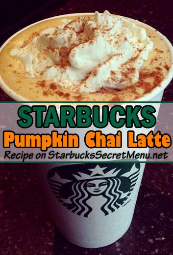 starbucks pumpkin chai latte