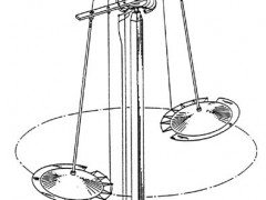 Townsend Brown's electrokinetic flying disc demonstration.  Image taken from Brown's U.S. patent.
