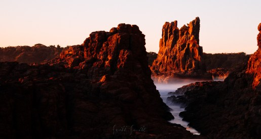Cathedral Rocks at sunrise.