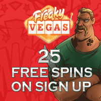 25 Free Spins No Deposit at FreakyVegas Casino - Expired