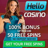 50 Free Spins No Deposit at Hello Casino - Expired