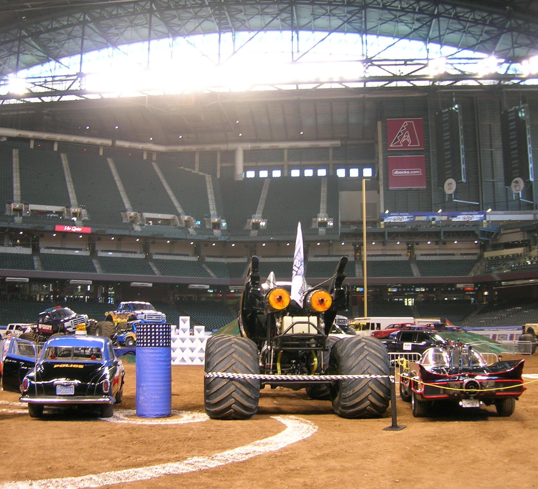 batman and batmobile monster truck