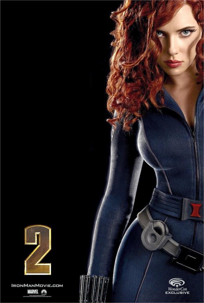 Scarlett Johansson Preto poster do filme Viúva