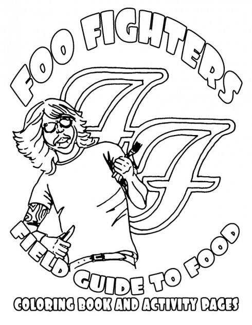 Foo Fighters' 2011 rider goes interactive with a coloring