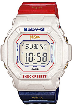 Kesha's limited edition Casio Baby-G red white and blue watch model BG5600KS-7