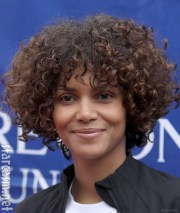 halle berry's curly hair