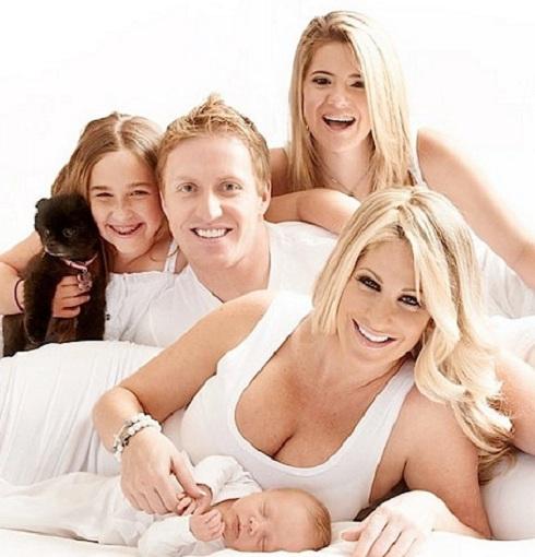 Kim Zolciak and family including baby Kash Kade