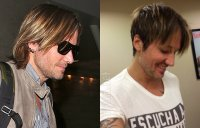 BEFORE & AFTER Keith Urban haircut photos