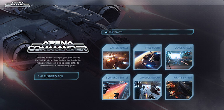 Arena commander multiplayer menu