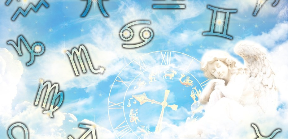 astrology signs, clouds, sky, angel and time.