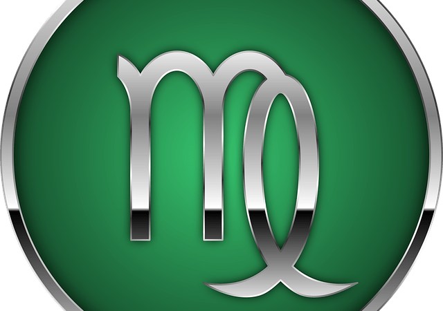 virgo glyph on green background