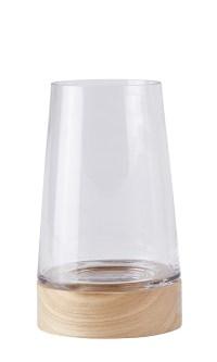 Windlicht HURRICANE Laterne Holz Glas Kerzenhalter