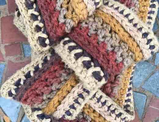 Mandala Yarn Infinity Scarf