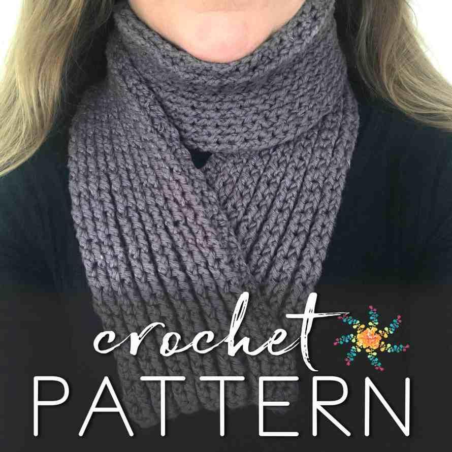 Crochet Overlay Grey Minimalist
