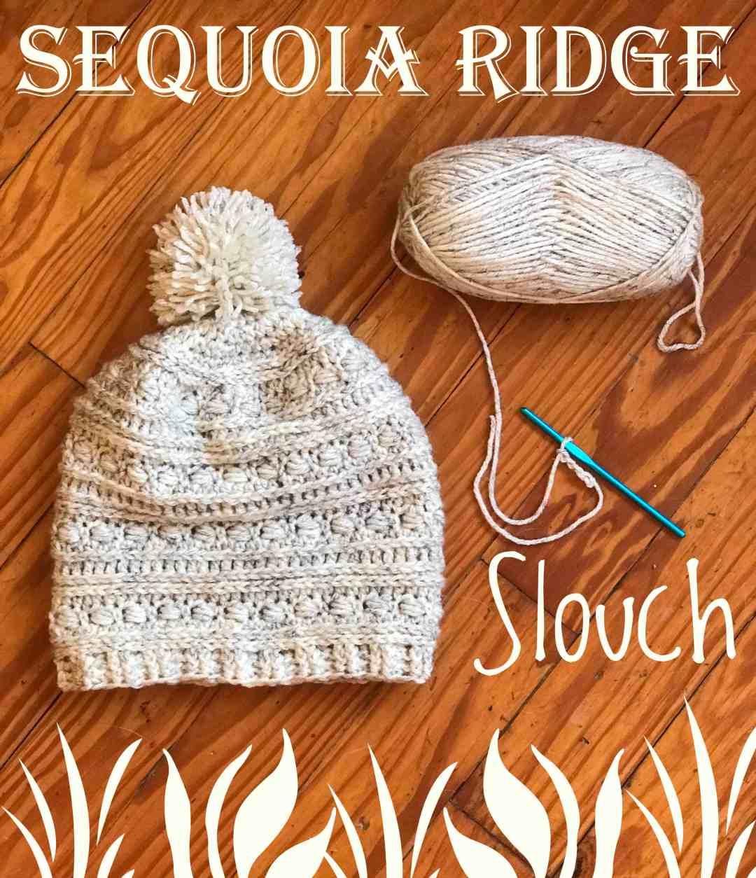 Sequoia Ridge Slouch Crochet Beanie - Free Crochet Pattern
