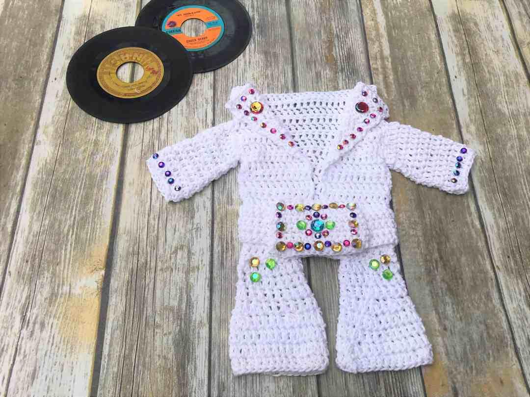 Elvis Aloha Hawaii Baby Onesie Jumpsuit Crochet Pattern Free