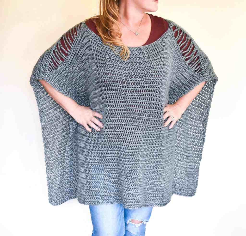 Rainy Daze Oversized Crochet Poncho Free Crochet Pattern Super