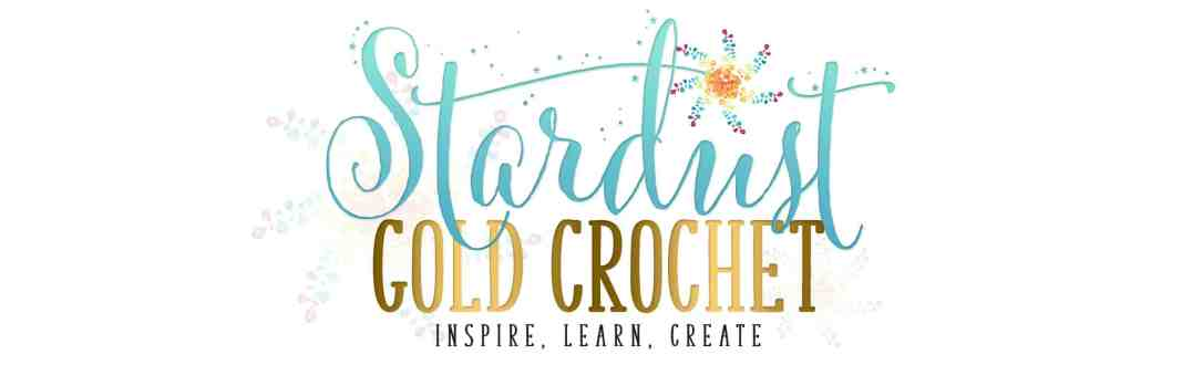 Stardust Gold Crochetwith stars2