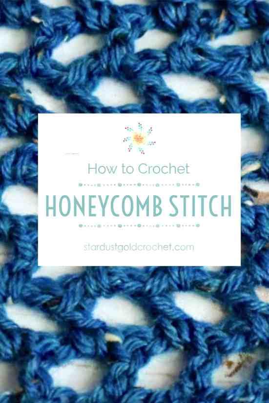 How To Crochet Honeycomb Stitch Easy Crochet Tutorial Stardust