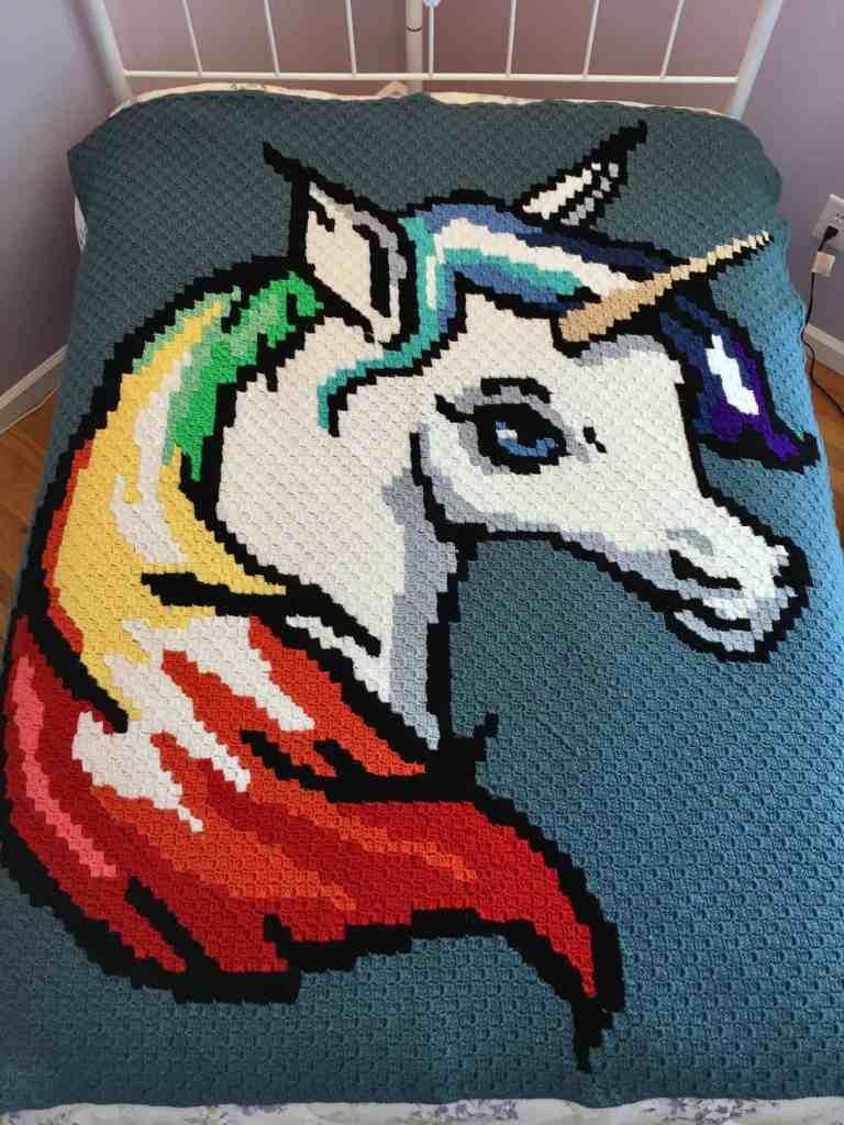 Rainbow Crochet Blanket C2c