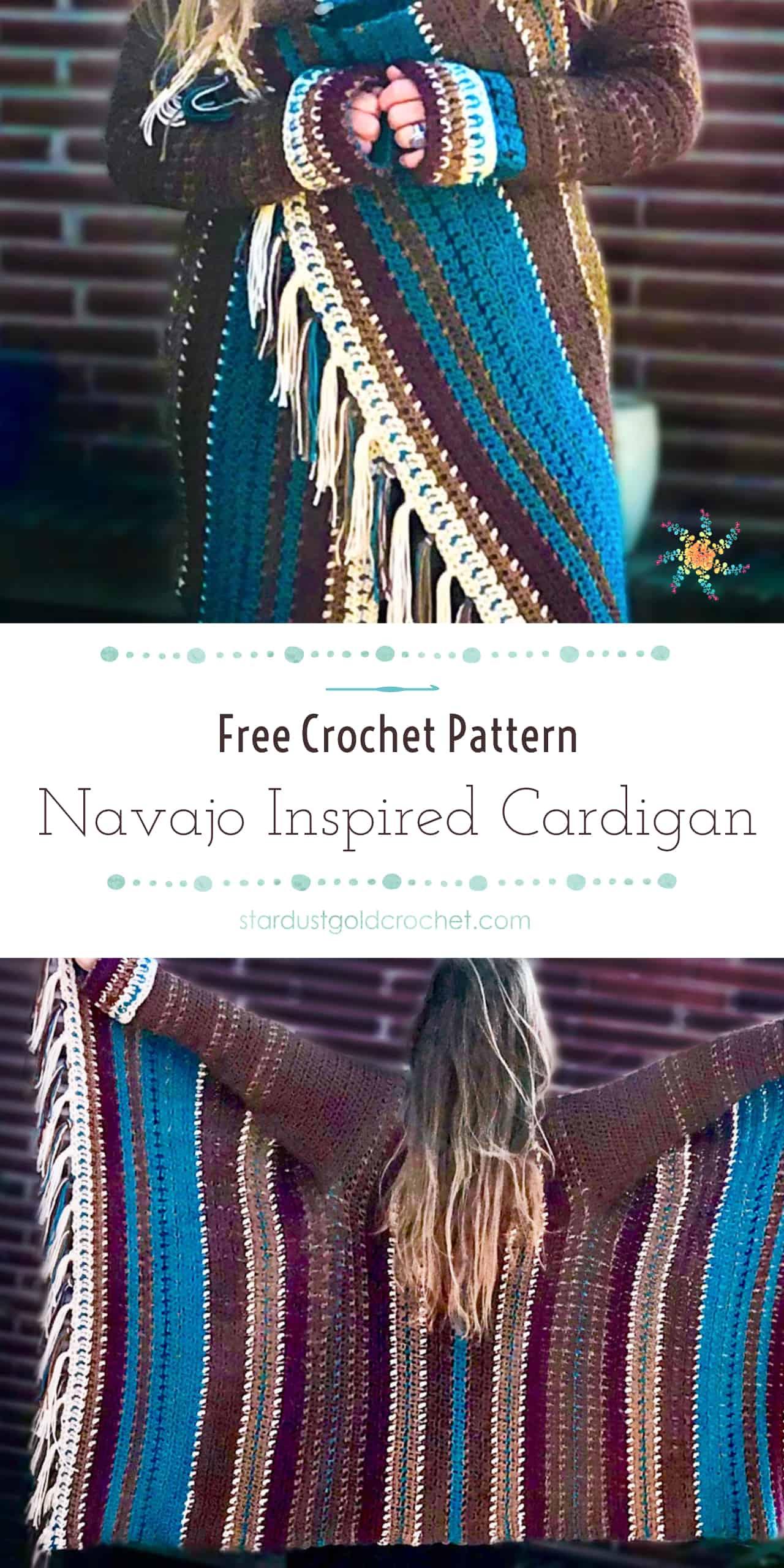 Navajo Inspired Blanket Cardigan | Free Crochet Pattern