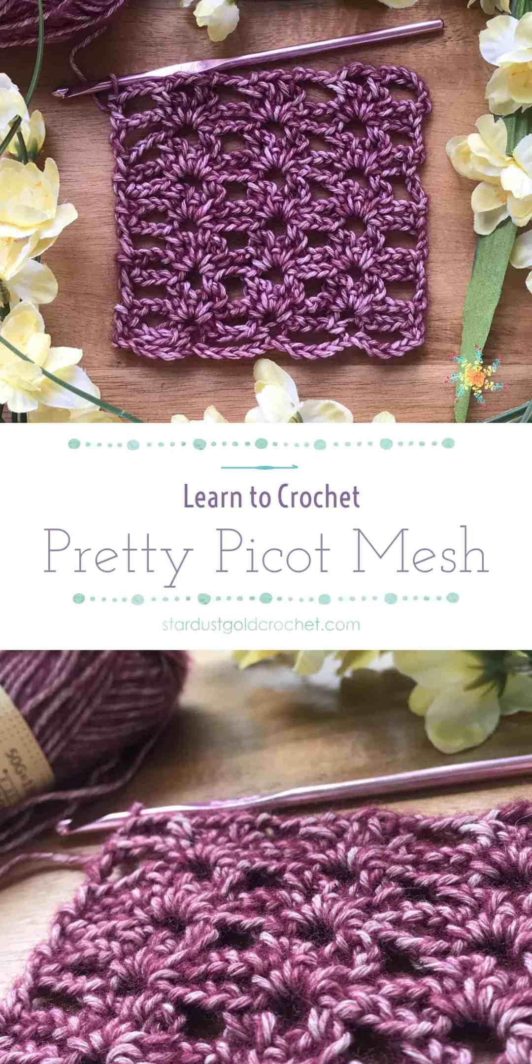 pretty picot mesh crochet