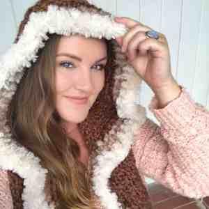 hooded crochet scarf