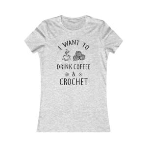 I want to drink coffee and crochet tank t-shirt