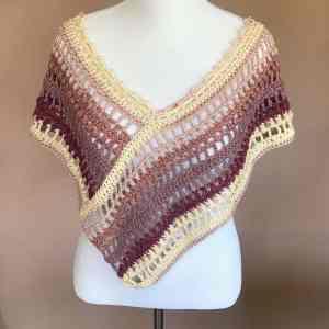 Ara Poncho Crochet Pattern (Front)