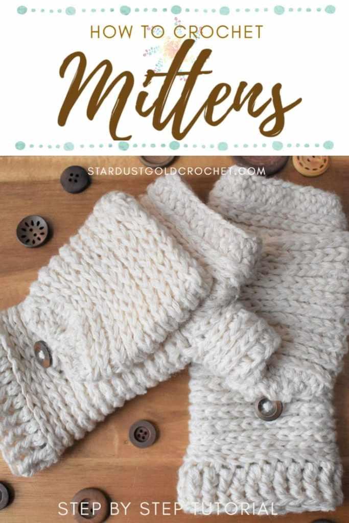 Tabby Star Crochet Mittens(1)