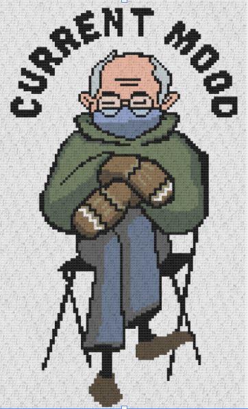 Bernie Bundled at Inauguration Crochet Pattern