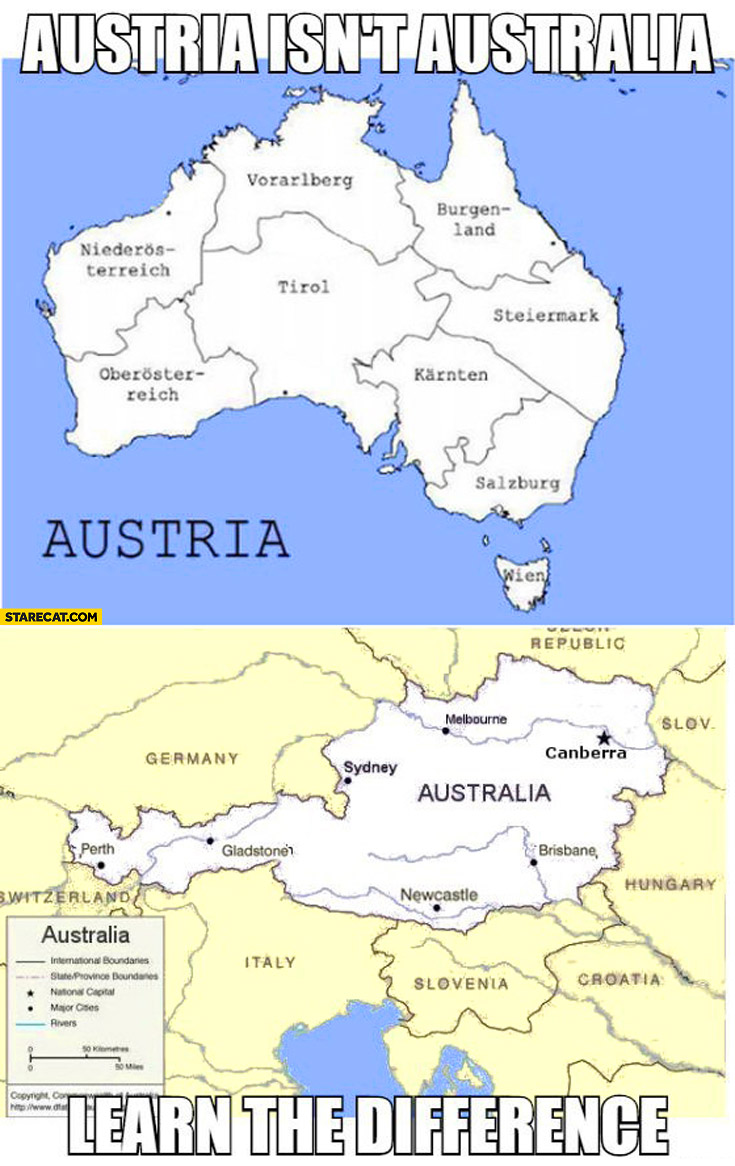 Austria Isnt Australia Learn The Difference