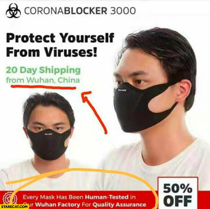 Corona Virus Mask Made In China Meme