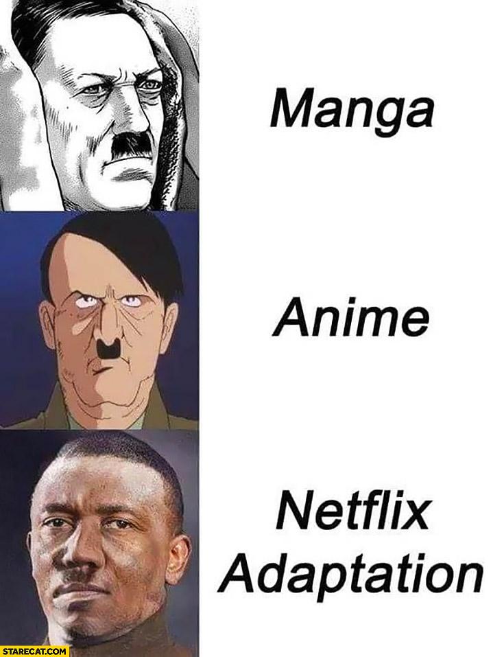 Manga Anime Netflix Adaptation : manga, anime, netflix, adaptation, Hitler, Manga,, Anime,, Netflix, Adaptation, Comparison, StareCat.com
