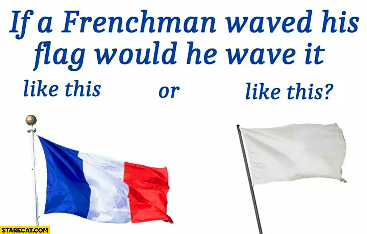 if a frenchman waved