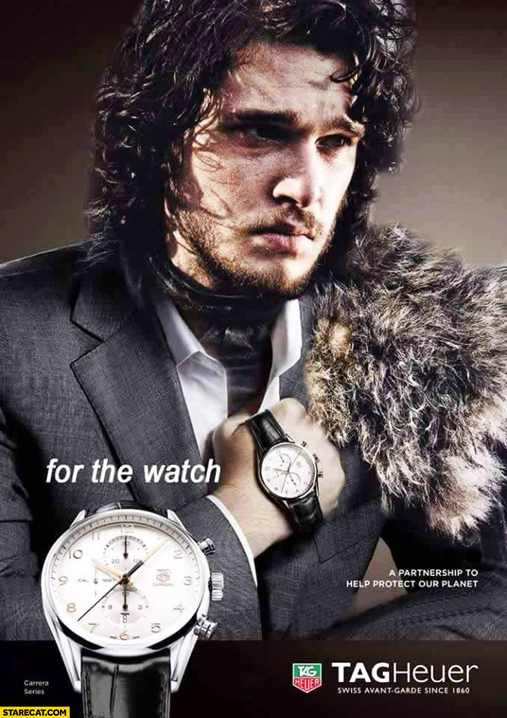 Jon Snow For The Watch Tag Heuer AD