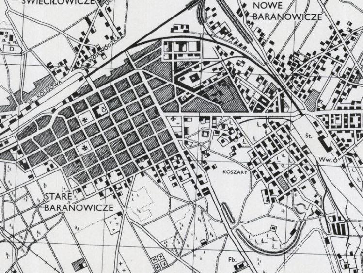 Plan Miasta Baranowicze z 1943r.