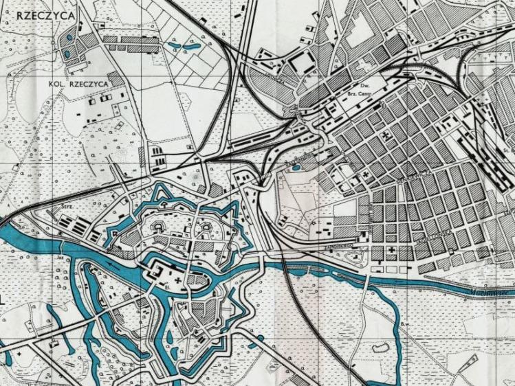 Plan Miasta Brześcia n/B. z 1943r.