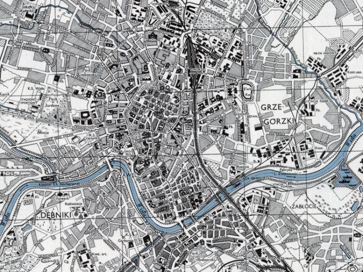 Plan Miasta Krakowa z 1943r.