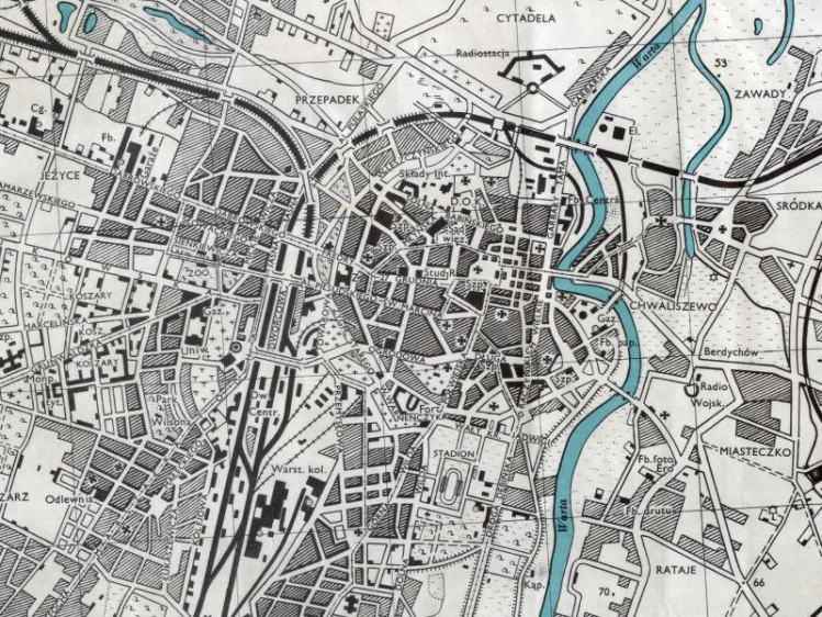 Plan Miasta Poznania z 1943r.